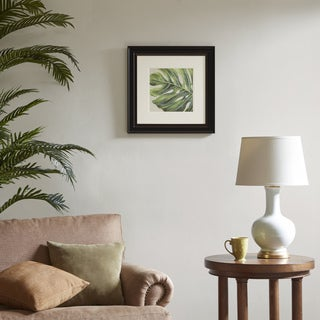 Harbor House Monstera Leaf Green Decorative Embroidery Wall Art Botanical