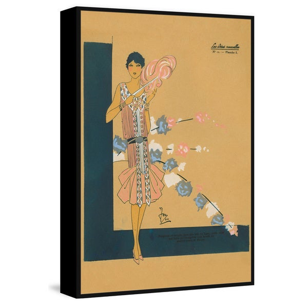 Marmont Hill - Handmade Pink Fashion Floater Framed Print on Canvas