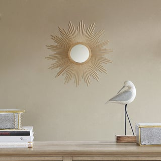 Madison Park Fiore Gold Sunburst Mirror - Small
