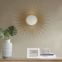Madison Park Fiore Gold Sunburst Mirror - Large