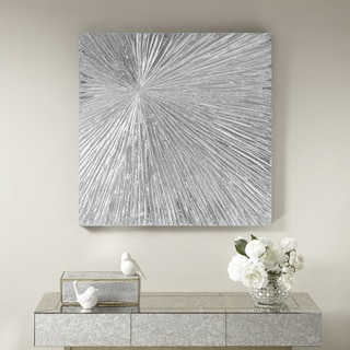 Madison Park Signature Sunburst Silver Resin Dimensional Palm Box