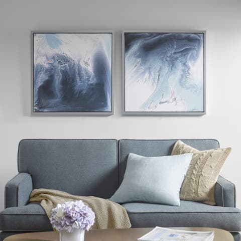 Madison Park Blue Lagoon 2 Multi Gel Coat Framed Canvas 2-piece Set
