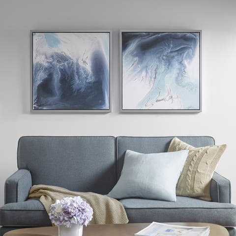 Madison Park Blue Lagoon 2 Gel Coat Framed Canvas 2-piece Set