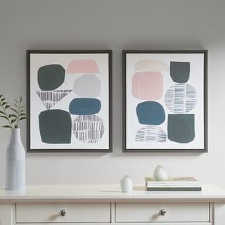 Link to Urban Habitat Grey Rock Garden Gel Coat Framed Canvas 2-piece Set Similar Items in Art Prints