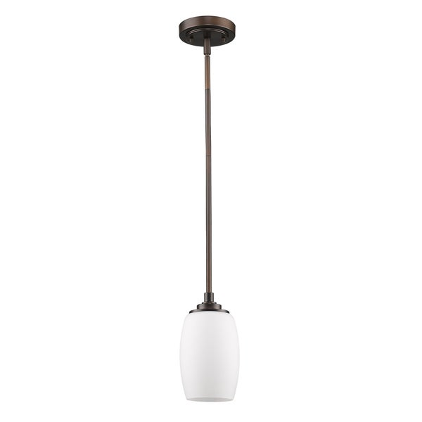 Acclaim Lighting Sophia Indoor 1-Light Mini Pendant With Glass Shade In Oil Rubbed Bronze