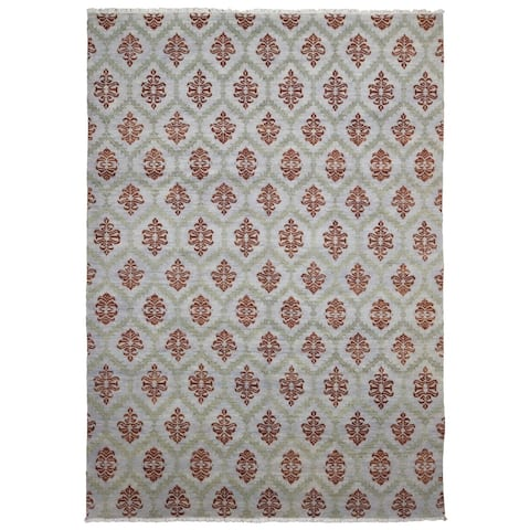 FineRugCollection Hand Made Fine Oushak Turkish Knot Oriental Rug