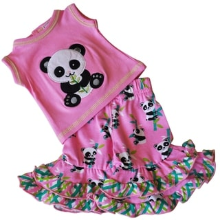 AnnLoren Pink Panda Bear 2 piece Doll Outfit for 18 inch Dolls