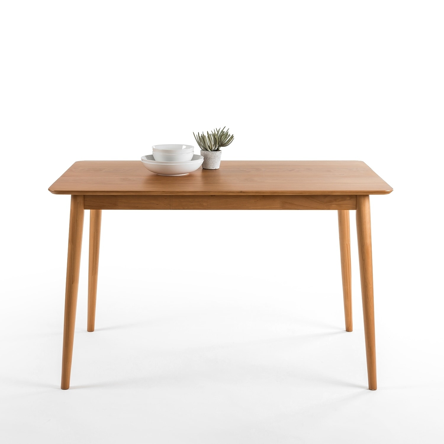 Priage By Zinus 47 Natural Wood Dining Table Overstock 19628332