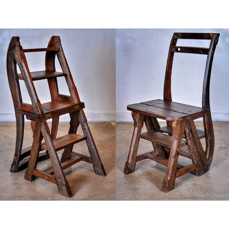 GroovyStuff Ben Franklin's Ladder Chair, Brown (Teak)