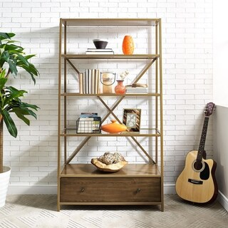 Avenue Greene Dixie Brass Pyramid Bookcase Etagere