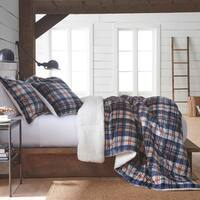 Vellux Ethan Plush/Sherpa Plaid Comforter Set