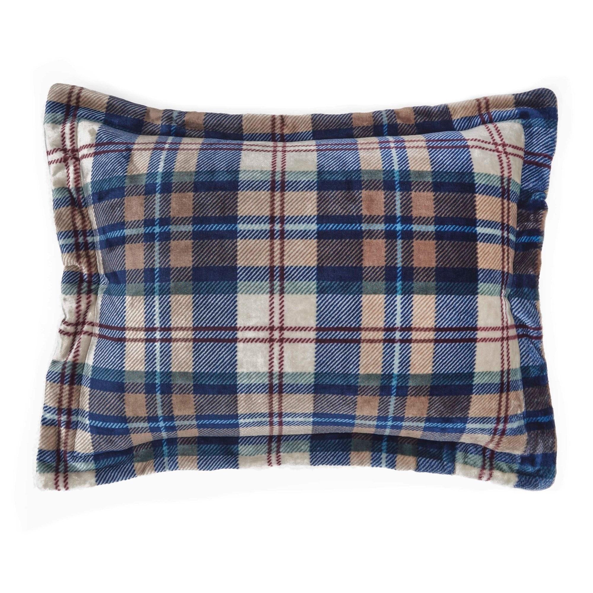 Vellux Ethan Plush Sherpa Plaid Comforter Set Overstock 19628623