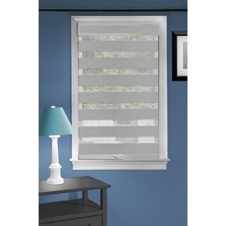 Cordless Celestial Sheer Double Layered Shade - Grey (More options available)