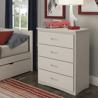 Hunter 4-Drawer White Wood Chest by iNSPIRE Q Junior