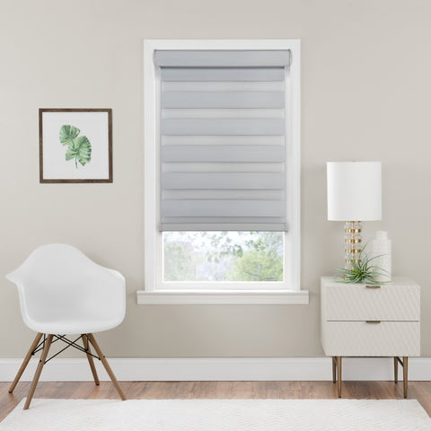 Cordless Celestial Room Darkening Double Layered Shade - Oyster
