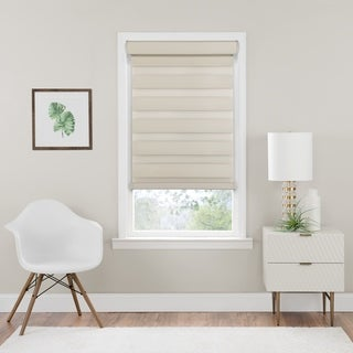 Link to Cordless Celestial Room Darkening Double Layered Shade - Tan Similar Items in Blinds & Shades