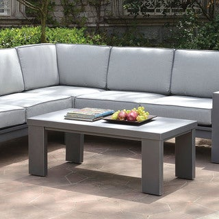 Furniture of America Luva Modern Grey Aluminum Outdoor Coffee Table