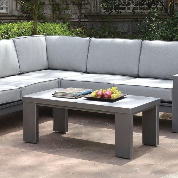 Shop Furniture Of America Luva Modern Grey Rectangular