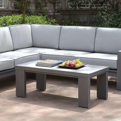 Furniture of America Luva Modern Grey Rectangular Coffee Table