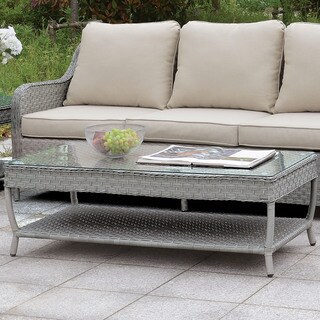 Furniture of America Sloan Contemporary Grey Coffee Table with Shelf
