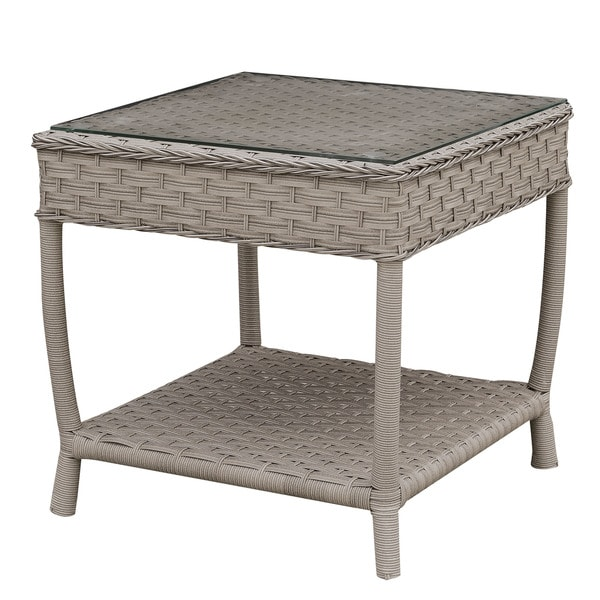 Shop Furniture Of America Dyla Contemporary Grey Glass Top