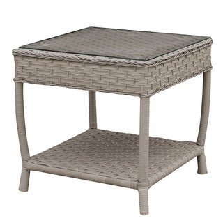 Furniture of America Sloan Contemporary Grey Patio End Table