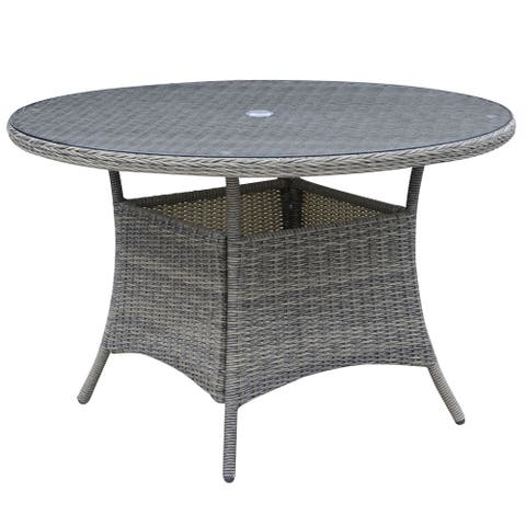 Furniture of America Xavi Contemporary Grey 47-inch Patio Dining Table