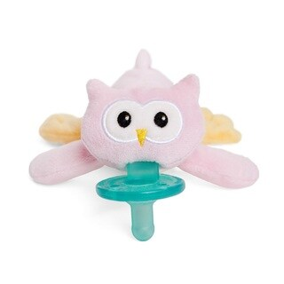 Wubbanub Plush Infant Pacifier - Pink Owl