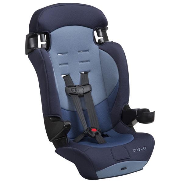 Cosco Finale DX 2-in-1 Booster Car Seat in Sport Blue. Opens flyout.