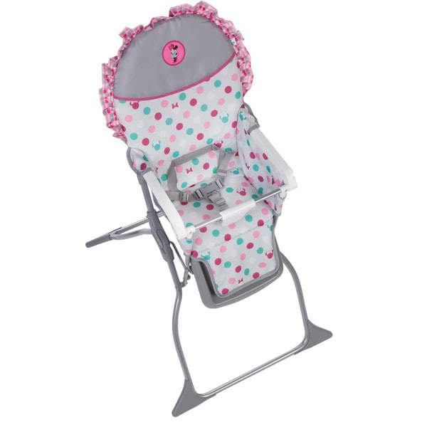 Disney Baby Minnie Mouse Simple Fold Plus High Chair with 3