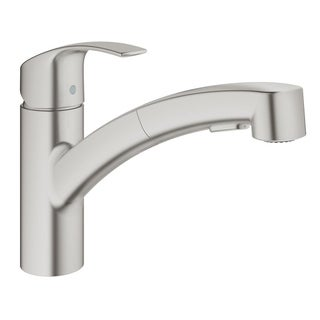 Grohe Eurosmart Single-Handle Kitchen Faucet 30306DC0 SuperSteel Infinity