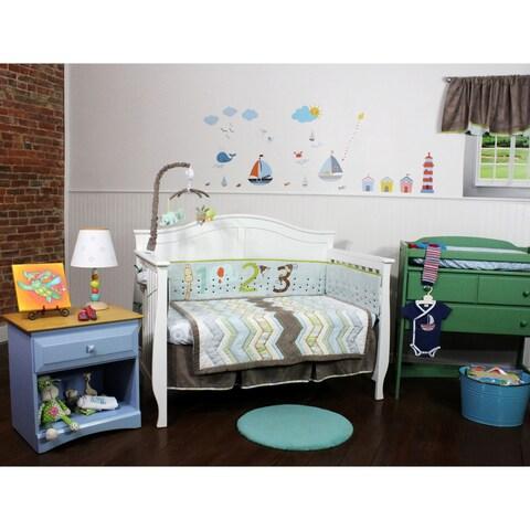 Cocoa Accent Chevron 4 Piece Nursery Bedding Set