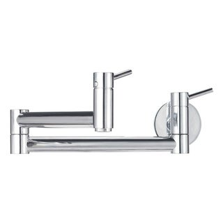 Blanco Cantata Wall Mounted Pot Filler 441195 Satin Nickel