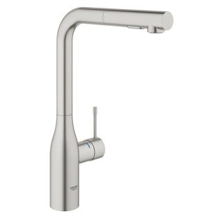 Grohe 30271DC0 Supersteel Essence Pull-Out Kitchen Faucet with 2-Function Locking Sprayer