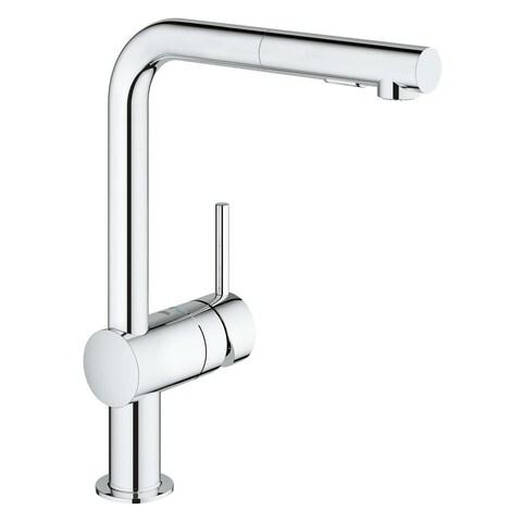 Grohe Minta Single-Handle Kitchen Faucet 30300000 Starlight Chrome