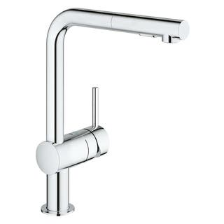 Grohe Minta Single Handle Kitchen Faucet 30300000 Starlight Chrome