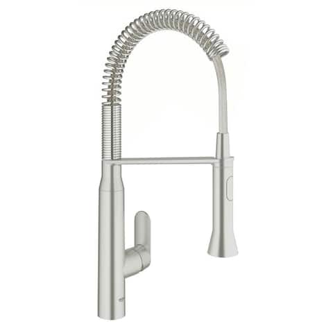Grohe K7 Foot Control Touch Single-Handle Kitchen Faucet 30314DC0 SuperSteel Infinity