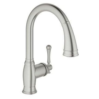 Grohe Bridgeford Single-Handle Kitchen Faucet 33870DC2 SuperSteel Infinity