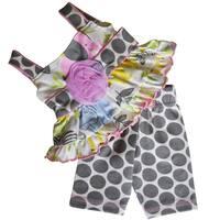 AnnLoren Jungle Polka Dot Dress and Capri Outfit fits 18 inch Dolls