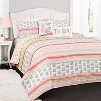 Lush Decor Fox Ruffle Stripe 5-piece Quilt Set