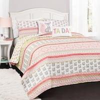 Lush Decor Fox Ruffle Stripe 5-piece Quilt Set