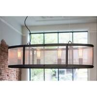 Light & Living Lancelot Industrial Chic Black Hanging Lamp