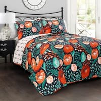 Lush Decor Poppy Garden 3 Piece Quilt Set