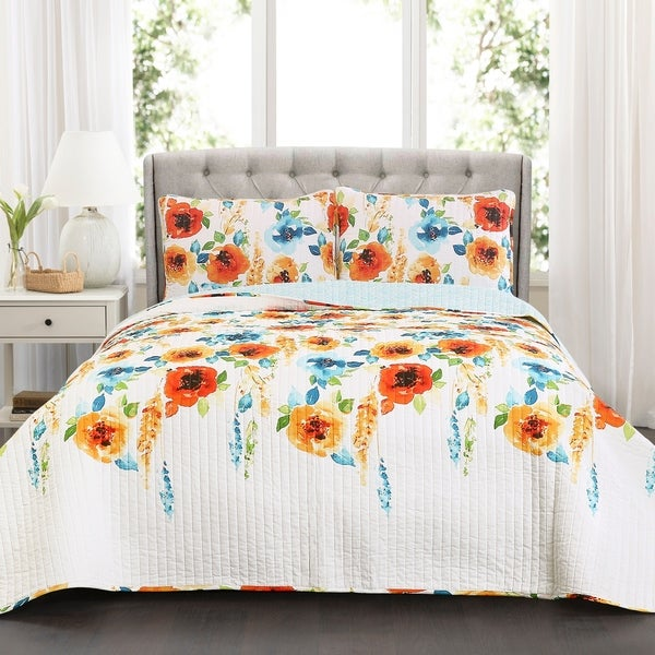 Lush Decor Percy Bloom 3 Piece Quilt Set