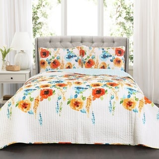 Lush Decor Percy Bloom 3 Piece Quilt Set (2 options available)