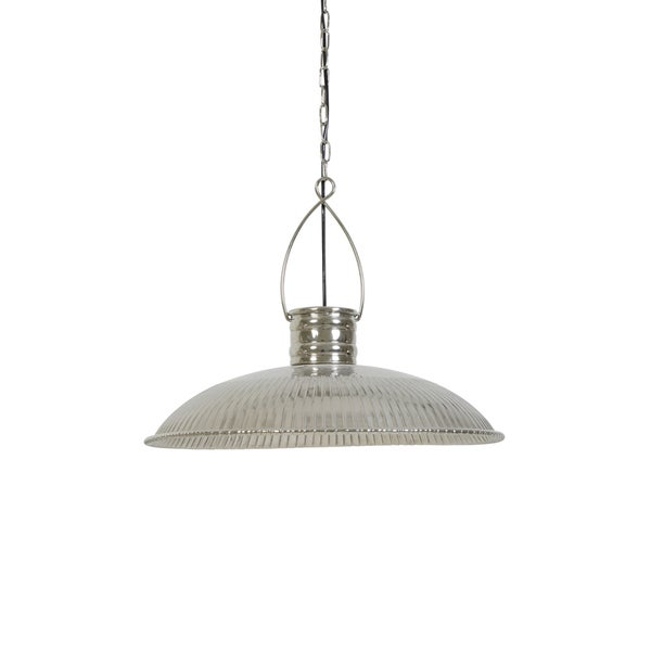 Shop Urban Designs Claire Nickel Industrial Hanging Lamp