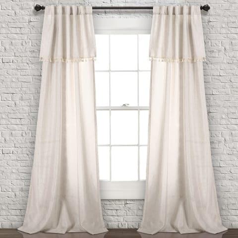 Lush Decor Ivy Tassel Window Curtain Panel Pair
