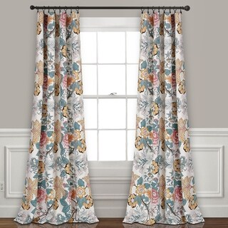Lush Decor Sydney Room Darkening Window Curtain Panel Pair