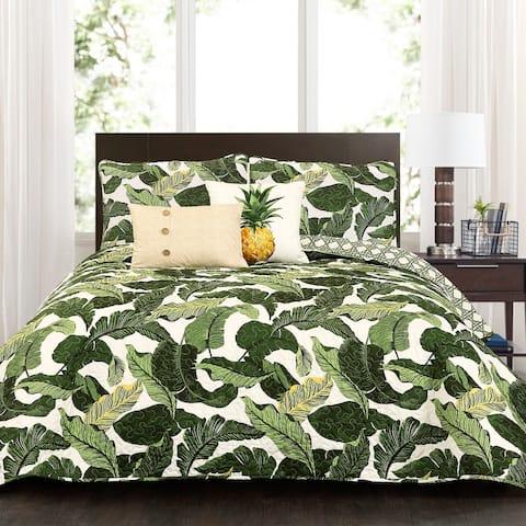 Lush Decor Tropical Paradise 5 Piece Quilt Set