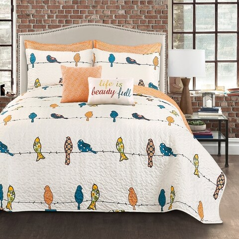 Lush Decor Rowley Birds 7 Piece Quilt Set